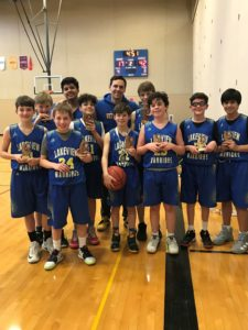 Warriors 7th Grade Team Travel League Champs 21-2 Overall Record